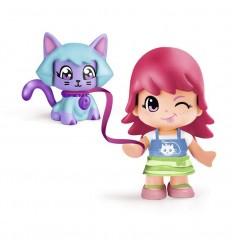 Pinypon figura con mascota gato