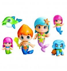 Pinypon Sirenas pack grande de 6 figuras