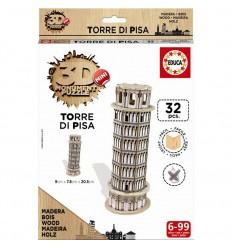 Puzzle 3d madera torre de pisa