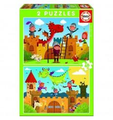 Puzzle 2x48 dragones y caballeros