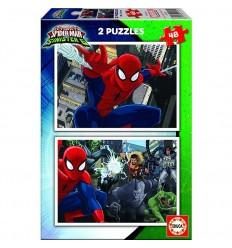 Puzzle 2x48 spider-man
