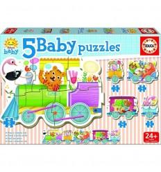 Puzzle tren de los animales