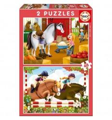 Puzzle 2x48 cuidando caballos