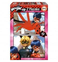 Puzzle 2x48 miraculous /lady bug