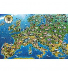 Puzzle 1500 map of europe - falcon