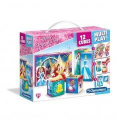 Rompecabezas 12 cubos princesas