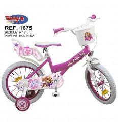 "Bicicleta 16"" paw patrol niña"