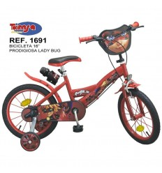 "Bicicleta 16"" prodigiosa ladybug"