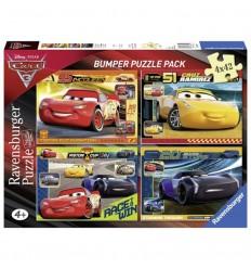 Puzzle 4 x 42 Cars 3