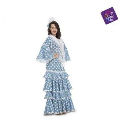 Flamenca huelva turquesa xl mujer ref.204950