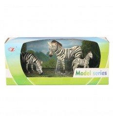Pack animales 3 cebras 15-9-13 cm