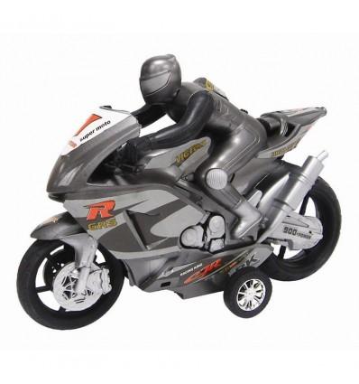 Moto con motorista friccion 24 cm