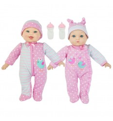Bebes gemelos parlanchines 34 cm. 6 frases