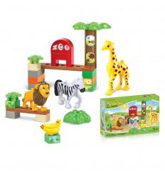 Bloques 30 piezas animales