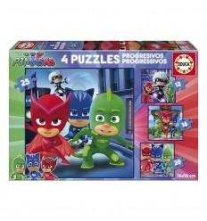 Puzzles PJ Masks progrsivos - Palaciodeljuguete.com