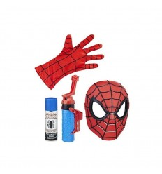 Spiderman role play mascara lanza redes roja