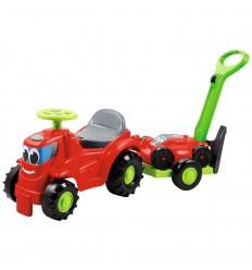 Correpasillo tractor + remolque + cortadora de ced