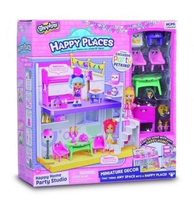 Happy places-studio playset+12 shopkins/petkins