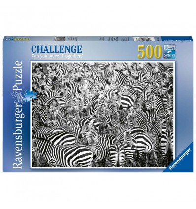 Puzzle 500 la sfida delle zebre