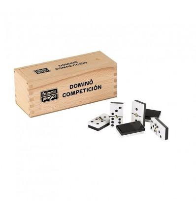 Domino competición caja madera
