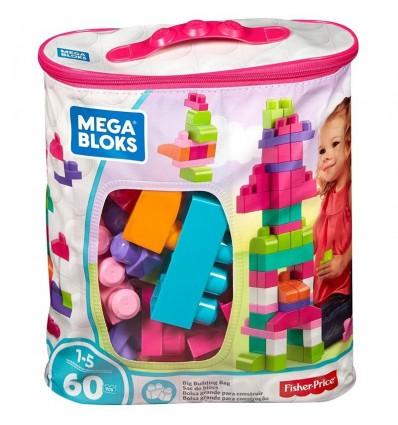 Bolsa Mega Bloks 60 pzs. Rosa