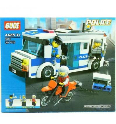 Furgon y moto policia