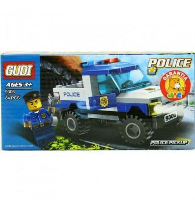 Vehiculo policia 84 piezas