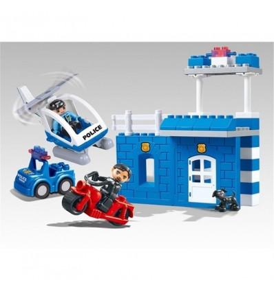 Bloques construcción policía 41 pzas