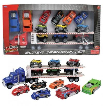 Camión transporte 57 cm fricción c/3 camiones pick