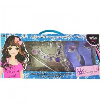 Set joyas y zapatos lilas