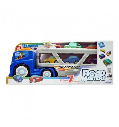 Camión transportador con 6 coches