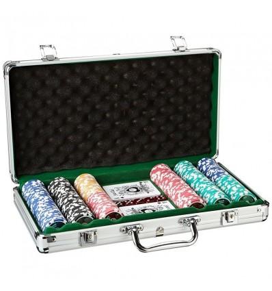 Maletin Poker 300 Fichas esmaltadas