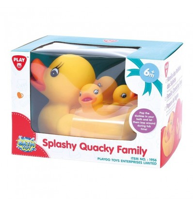 Familia patitos baño