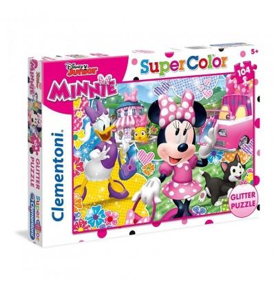 Puzzle minnie 104 piezas glitter