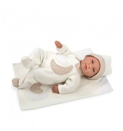 Muñeco lois 45 cm llora con manta