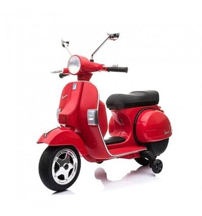 Moto Vespa 12v. Roja luces y sonidos