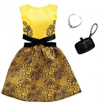 Barbie moda vestido amarillo