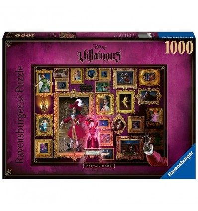 Puzzle 1000 Capitan Garfio Villanos de Disney