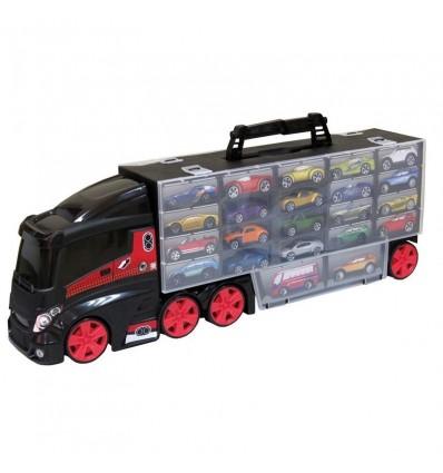 Camión portacoches 70 cm con 6 coches