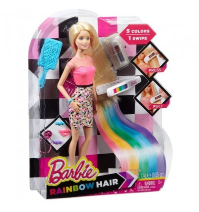 Barbie mechas arco iris