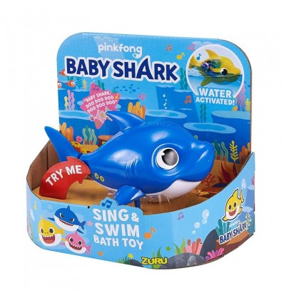 Baby Shark Daddy Robo Fish azul