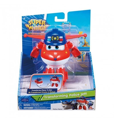 Police jett figura transformable superwings