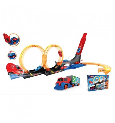 Pista looping camion con 2 coches