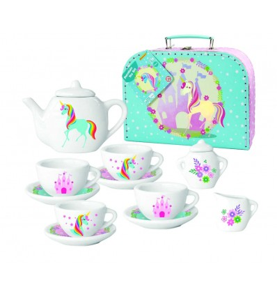 Maleta set de te 13 piezas unicornio