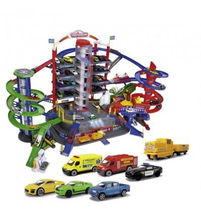 Garaje Supercity 7 plantas con coches y tren