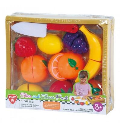Caja madera frutas 11 piezas