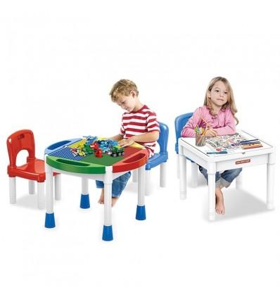 Mesa con Bloques 3 en 1 y Dos sillas