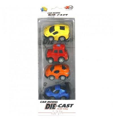 Caja 4 coches 6.5 cm