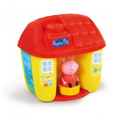 Cubo casita peppa pig con bloques suaves