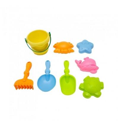 Cubo soft con accesorios playa